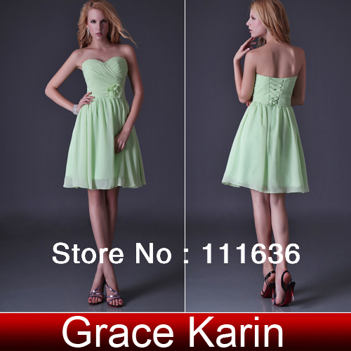 Free shipping fashion GK Sexy Stock Strapless Bridesmaid Party Prom Ball Evening Cocktail Dress 8 Size CL3473(China (Mainland))