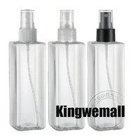 free shipping  300pcs/lot Capacity 250ml Water Perfume Empty Square Spray bottle PET  Bottles
