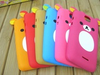 New Arrival!!! Free shipping**600pcs/lot** soft silicone cute bear case for Samsung I9100 galaxy SII by DHL with retail package