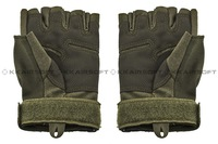 Hell Storm Tactical Duty Half Finger Gloves (OD Green)