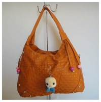 hot handbag,Fashion ladies'bag,designer bag,Material:PU, orange, Size:34 x 26cm,6 different colors,Two function,Free shipping