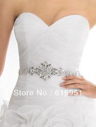 Wedding dress belt wedding dress sash crystal beaded beautiful wedding dress waistband JY109(China (Mainland))