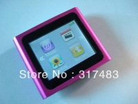 NEW f ashion mp4-6th touch screen 8GB MP4 Player+earphone+usb cable,free shipping
