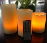 3pcs/lot  Remote Contro  Flameless Wax LED Candle Light Lamp for Wedding Party SP Xmas D55T/WM Free Shipping