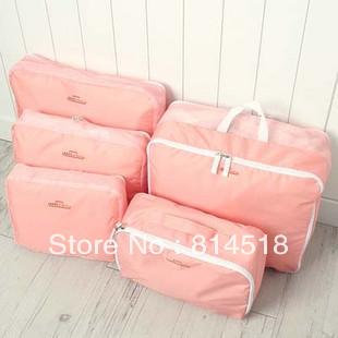 (1 set=5pcs) travel organizer storage bag set toiltry kit home storage bags free shipping(China (Mainland))