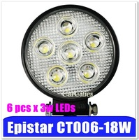 "High quality 4.7""18W Off-road/vehicle/truck/ATV/boat/bus LED Work Light, High Power LED Work Lamp with CE, free shipping"