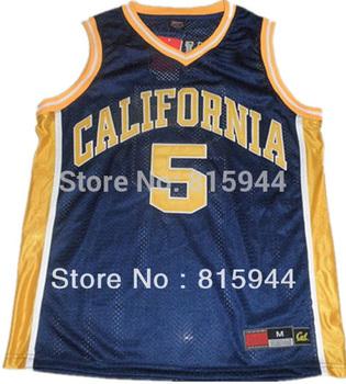 California Golden Bears #5 Jason Kidd blue basketball ncaa jerseys mix order free shipping