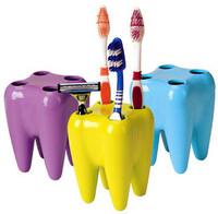 B Free Shipping 6pcs/lot Tooth Cavity Shape Toothbrush Shaving Razor Holder Seat Creative items