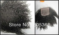 """human hair afro kinky curl 130% density size 4""""x4"""" fast delivery time lace closure"""