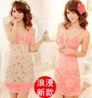 Women's Super Sexy Fantasy Pink Star fairy Lingerie babydoll Dress One Size kimono uniform sleepwear