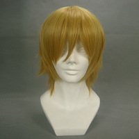 Ichijou Takuma Blonde Short Shaggy Layered Cosplay Anime Party Wig,Front Lace Hair.Free shipping