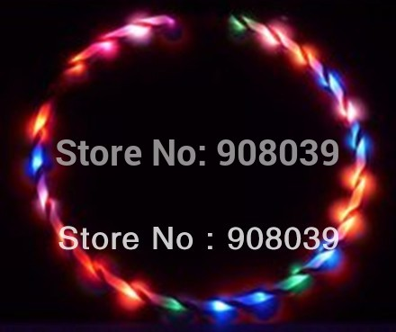 "Free shipping 36"" / 90cm LED Glow Hula Hoop 24 LED 7 colors Performance Hoop Sports Toys Loose Weight(China (Mainland))"