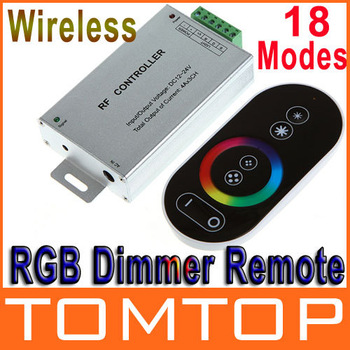 DC 12-24V Wireless Controller RF Touch Panel LED Dimmer RGB Remote Controller for RGB LED Strips