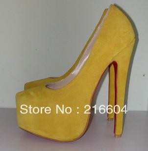 أحذية صفراااااااااااااااااء كعب عاااااااااااااااااالي retail-16cm-yellow-S
