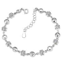 Wholesale luxury 100% Pure 925 Sterling Silver Bracelet for women fashion crystal jewelry DD014