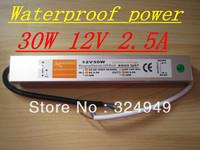 12V 2.5A 30W Waterproof Electronic LED Driver Transformer Power Supply 10pcs/lot