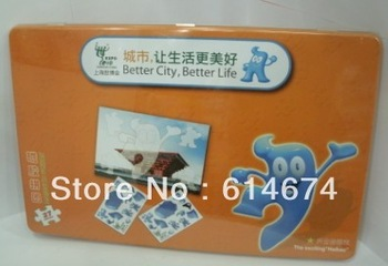 Shanghai Expo Gift 27 pcs 3D magnetic puzzles