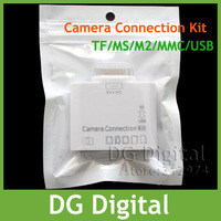 10pcs/lot  5+1 in1 Camera connection kit SD(HC) TF MS M2 MMC USB card reader for ipad+ Free shipping
