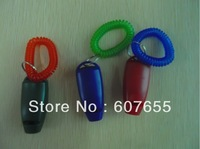 DHL free shipping Dog Pet Click Clicker& whistle with wrist strap,training whistle pet whistle 800pcs/lot