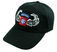 US Black U.S. 82th Airborne Baseball Cap