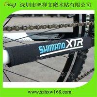 Free shipping 1 color Custom logo Neoprene Bike Chainstay protector Black