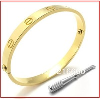 316L stainless steel gold plated bangle