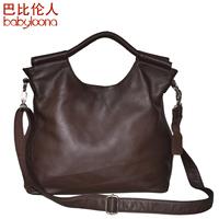Vintage genuine leather handbag  retro cowhide first layer leather women's handbag / luxury women tote / fashion leatger bag