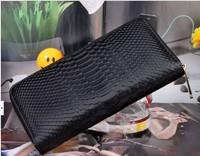 Free Shipping +Korean version of GENUINE LEATHER retro serpentine leather ladies purse / wallet/C052