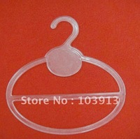 100pcs/Lot 13.5*13.5cm Transparent Plastic Round Scarf Hangers + Free Shiping ZF212