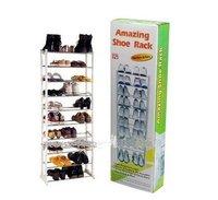 Christmas gift!!big promotion!!!free shipping!!!Amazing shoe rack 10 layer 20 pairs Free shippig ZF027