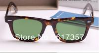 Hot Selling Men's/Woman's Glasses 2140 WAYFARER Sunglasses Black Frame Green Lens with Box Cloth