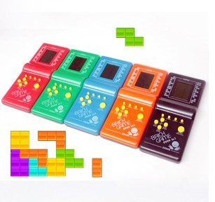 New Tetris Game Hand Held LCD Electronic Game Toys Triple Tetris Brick Game Sliding Blocks  free shipping