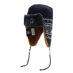 2013 New Style, Free Shipping, Patriots TRAPPER Navy Red Knit with dog ear flaps and double tassles!(China (Mainland))