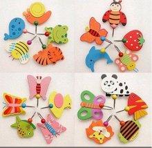 wholesale free shipping Cute Cartoon Wooden Animal Robe Home Wall Hanging Hook Hanger Creative Gifts Kids Nursery(China (Mainland))