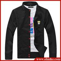 free shipping 2014 fashion Men's standing collar casual cardigan Slim sweater coat spring & autumn thin style hoody coat C211