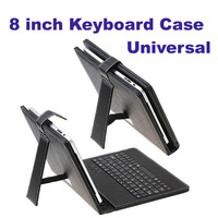 Freeshipping Hot sale  8inch tablet pc Universal Russian English Keyboard Case