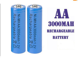 free shipping 200pcs/lot AA 3000mAh NiMH Rechargeable BATTERIES Battery Cell LR6 PU new sealed(China (Mainland))