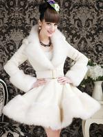 2014 bling white artificial rex rabbit hair fox fur skirt overcoat outerwear