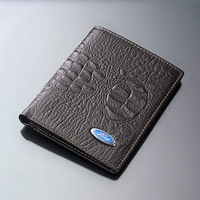 Genuine Cow leather Ford Men's wallet driver's license folder Card Holder
