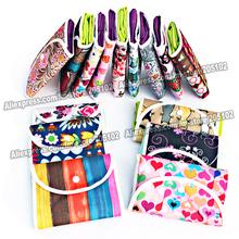5pcs/lot Fashion Nonwoven fabrics folding shopping bag&Jacquard folded pouch,many color patterns mixed sales foldable handbag(China (Mainland))