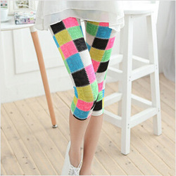 New Fashion knitting PJ-01 patch leggings women ankle Length tights Candy colors skinny punk pants black Trousers FREE SHIPPING(China (Mainland))
