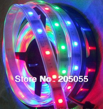 16Ft 5m 6803 IC 5050 RGB Strip DREAM COLOR waterproof 150LED IP67 tube dream magic color digital 12V Led Strip light 30led/Meter