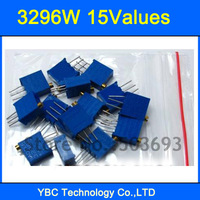 15valuesx10pcs=150pcs 3296W Potentiometer Pack High Precision 3296 Variable Resistors