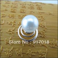 Wholesale 12pcs Lot  10mm Faux Pearl  Hair Twists Spirals Pins Wedding Bridal Women Hair Jewelry Free Shipping