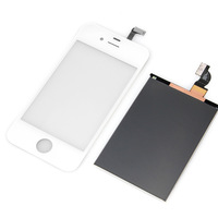 White Touch panel and the LCD screen For iPhone 4G B0015+BA018