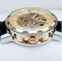 Luxury Watches Skeleton Auto Mechanical Watch Sport Men's Wristwatch Valentine's Day Gift Free Ship
