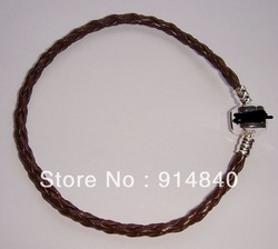 Wholesale 20pcs/lot Mixed Leather Bracelets Fit Charm Bead for pandora clasp PL002(China (Mainland))