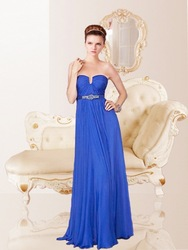 Free shipping Custom Comely Fascinating Chiffon Floor Length Empire Evening Dresses2013(China (Mainland))