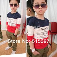 Child basic shirt children's clothing male child long-sleeve T-shirt 100% cotton 1206 (CC003)