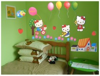 free shipping retail princess room kindergarten decoration hello kitty wall sticker water-proof pvc